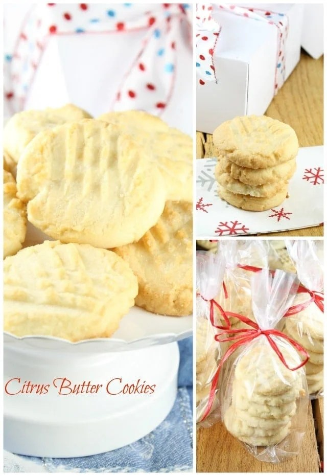 Citrus Butter Cookies Recipe for the Food Blogger Cookie Swap 2015 from Miss in the Kitchen
