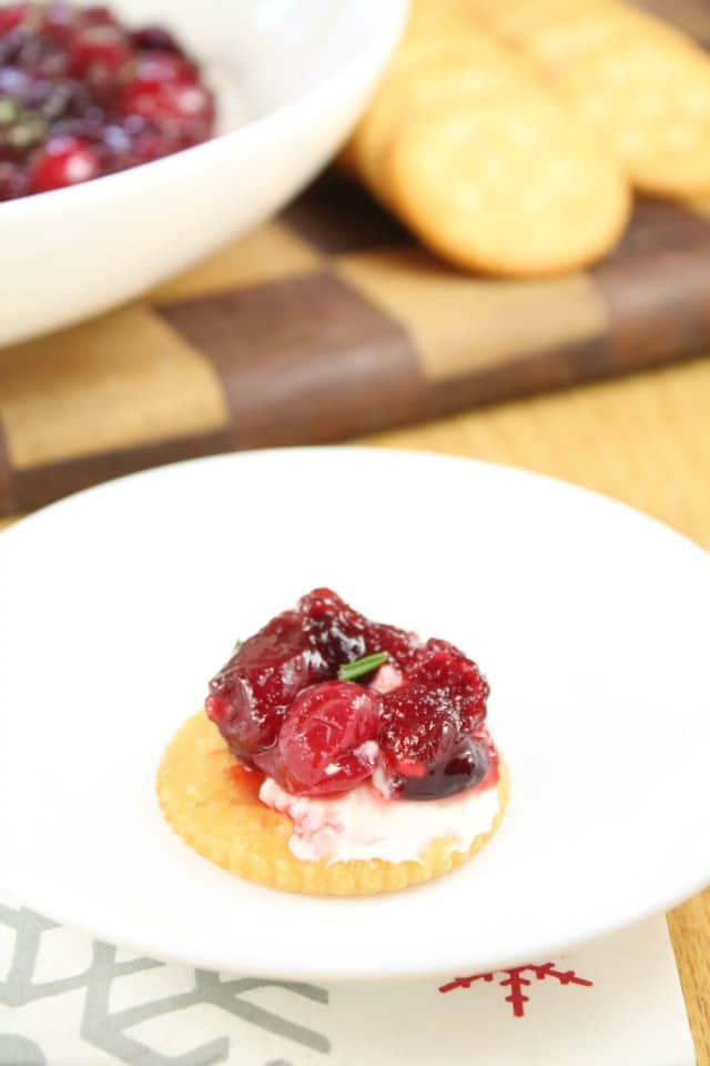 Quick and Easy Holiday Appetizer! Cranberry Dip from Miss in the Kitchen