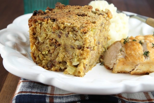 Recipe for Sausage and Cornbread Dressing from Miss in the Kitchen