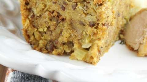 Sausage and Cornbread Dressing Recipe from Miss in the Kitchen