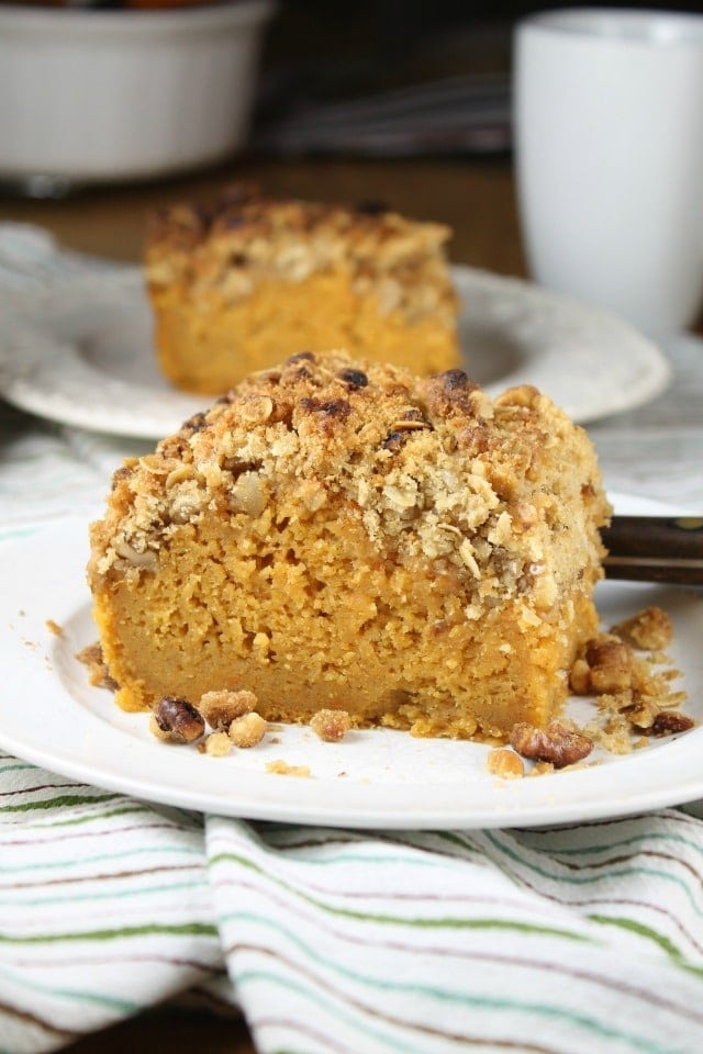 Sweet Potato Bars with Streusel Topping is delicious anytime dessert or a perfect treat with your morning coffee. Recipe from missinthekitchen.com #ad