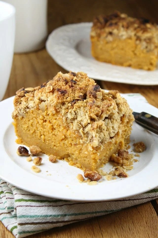 Recipe for Sweet Potato Bars with Streusel Topping using Bob Evans Mashed Sweet Potatoes from MissintheKitchen.com #sponsored