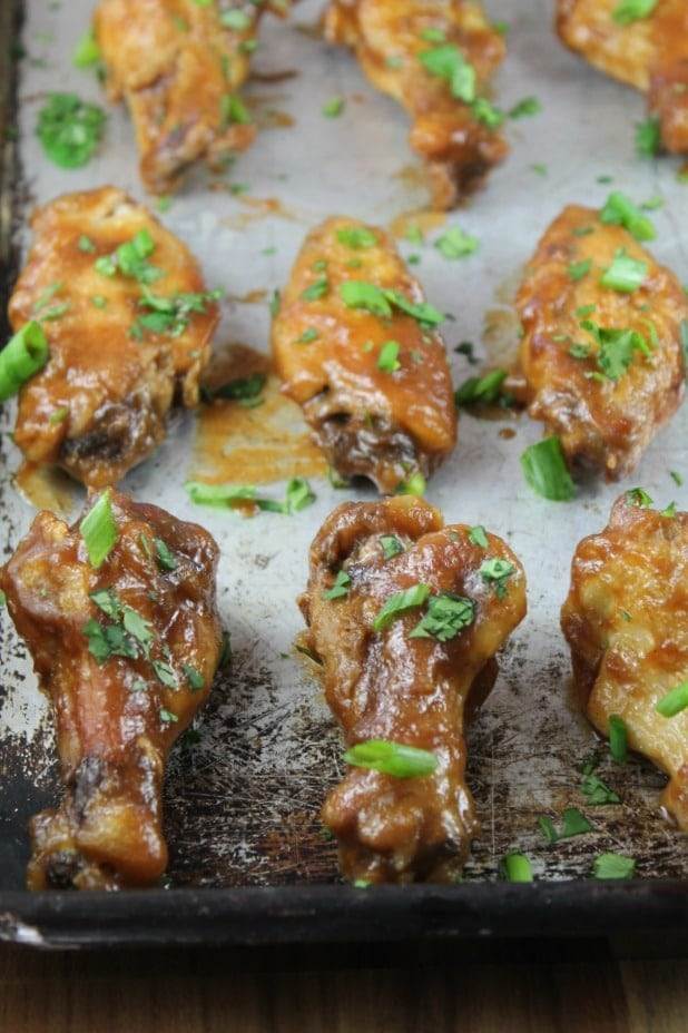 Recipe for Asian Chicken Wings from Missinthekitchen.com #AppleButterSpin