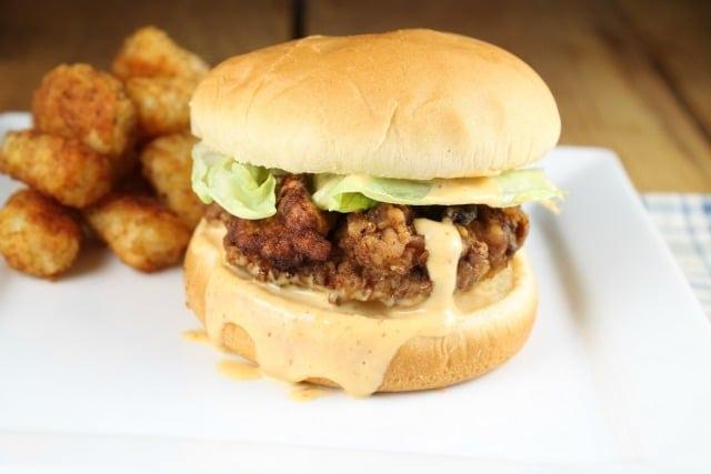 Chicken Fried Steak Sandwich Recipe ~ MissintheKitchen.com