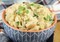 Classic Chicken and Rice Casserole with easy, from scratch recipe, no can soup! from MissintheKitchen.com