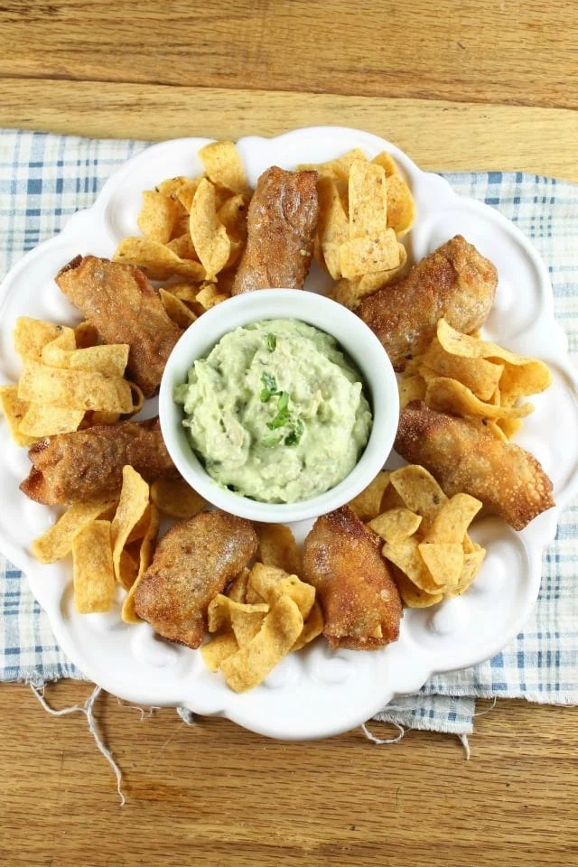 Fried Frito Chili Pie ~ Perfect appetizer recipe for game day ~ from MissintheKitchen.com