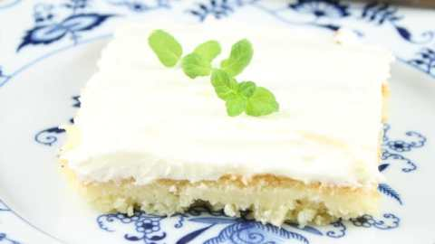 Pineapple Sheet Cake with Cream Cheese Frosting Recipe from Miss in the Kitchen