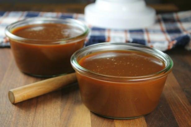 Salted Caramel Sauce Recipe at MissintheKitchen.com