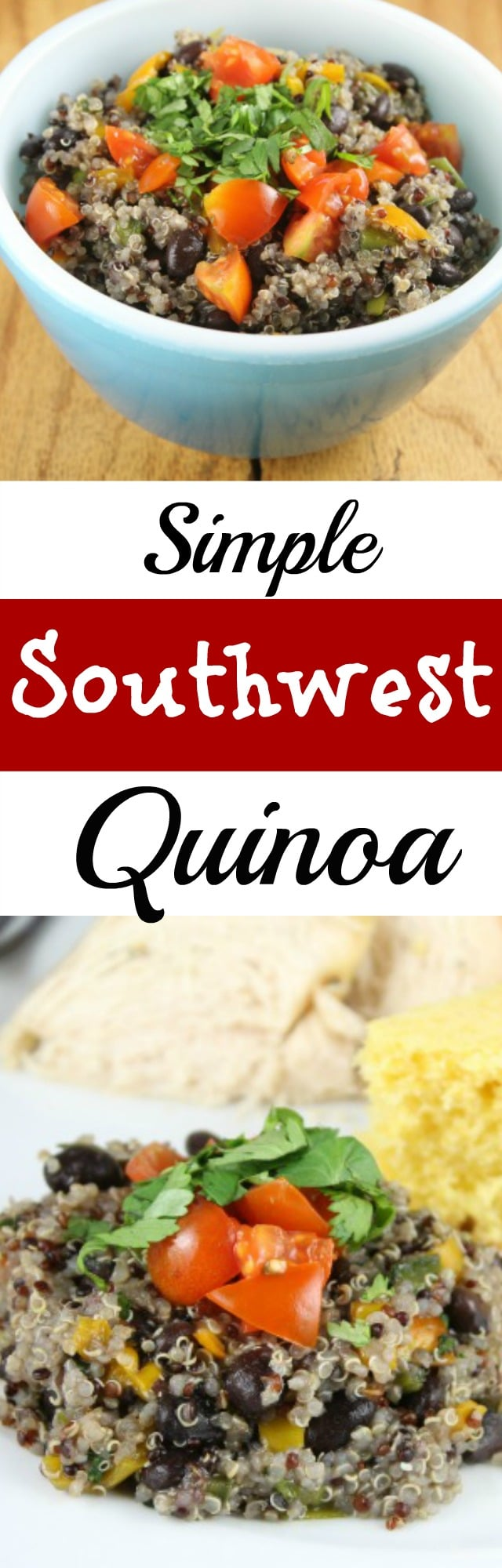 A simple recipe for Southwest Quinoa, a hearty healthy dish that the whole family will love! #SmartBalanceFTW #sponsored from MissintheKitchen.com
