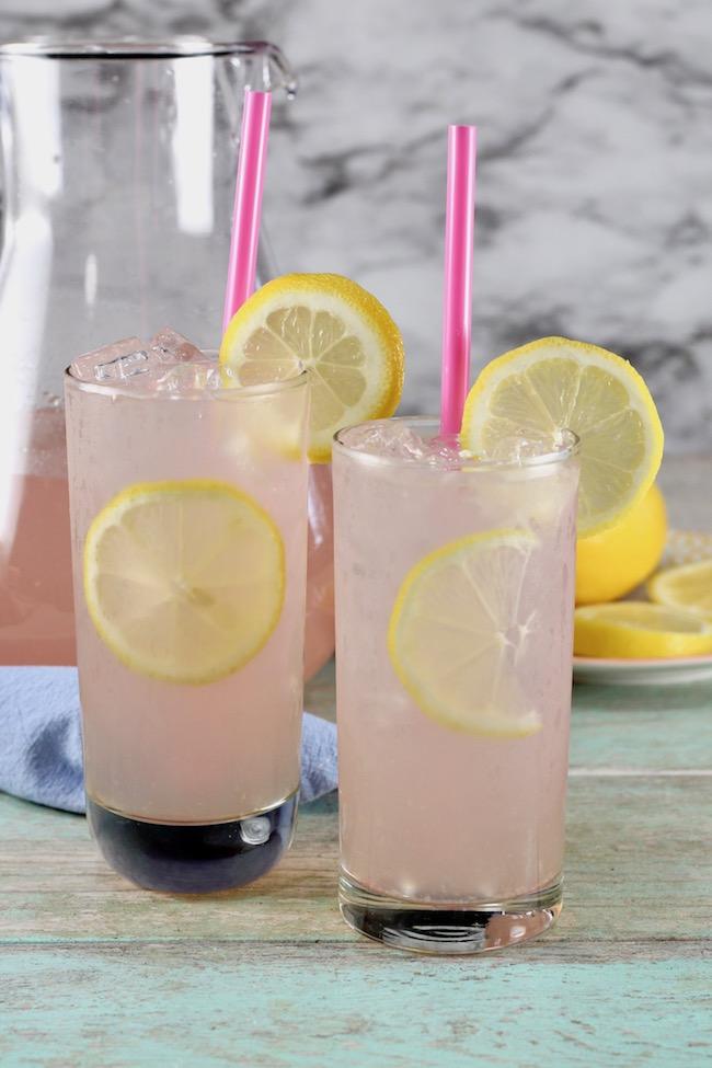 Large batch cocktail ~ Sarasota Lemonade made with moscato wine