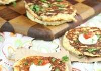 Tex- Mex Potato Pancakes using Bob Evans Garlic Mashed Potatoes ~ Recipe from MissintheKitchen.com