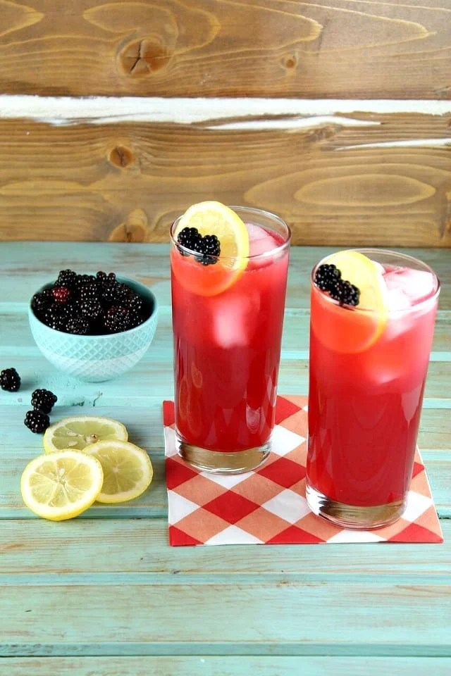 Blackberry Lemonade Recipe for a refreshing and delicious summer drink. From MissintheKitchen
