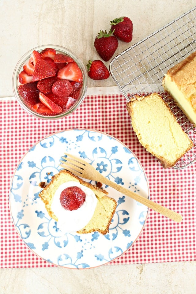 Vanilla Pound Cake Recipe From Fast & Easy Five- Ingredient Recipes | MissintheKitchen.com #SweetPhiCookbook