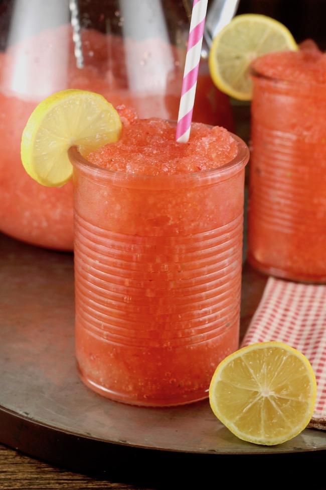 Strawberry Lemonade Moscato Slushie party drink