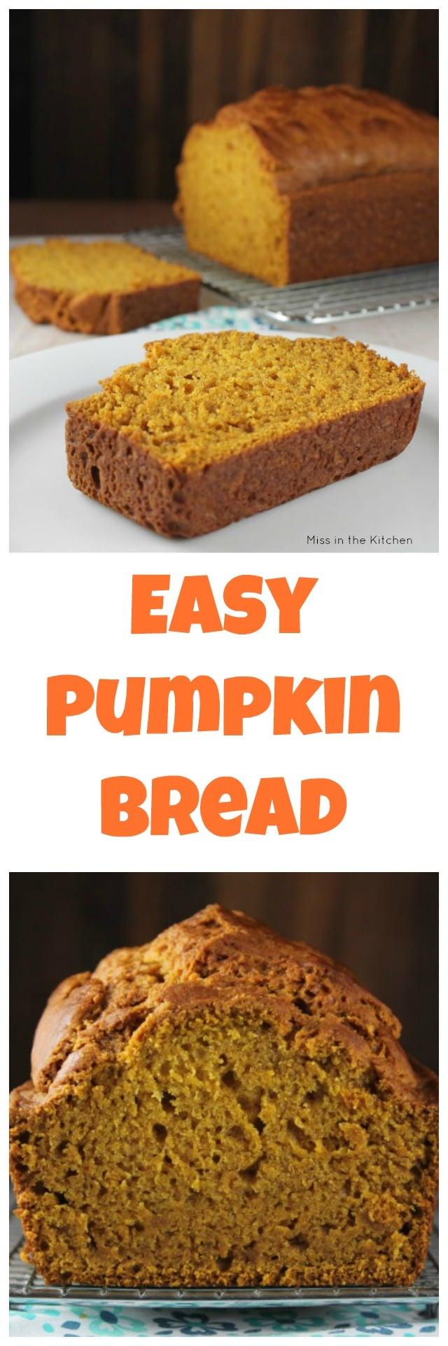 Easy Pumpkin Bread Recipe One Bowl No Mixer Required
