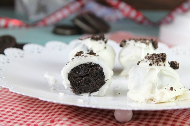 OREO Cookie Ball Recipe- a fun and delicious holiday treat - MissintheKitchen.com