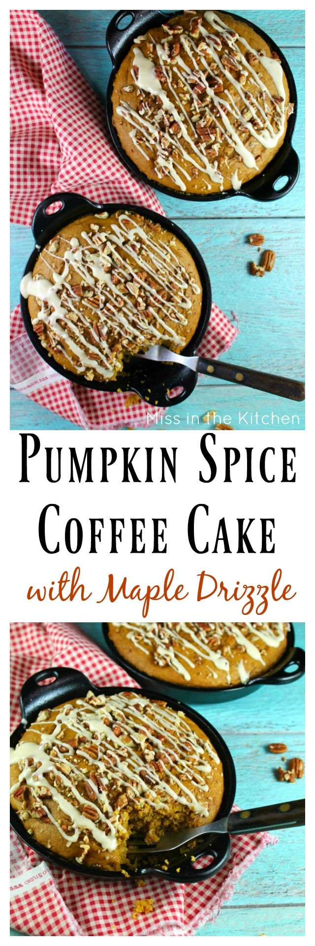 Pumpkin Spice Coffee Cake Recipe from MissintheKitchen.com Try this easy fall dessert for your next weekend brunch!