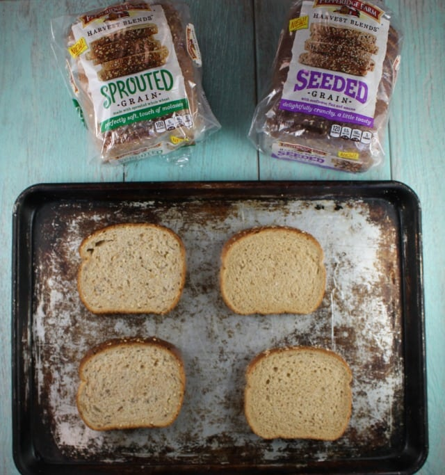 Pepperidge Farm Harvest Blends Toast for Salmon Toast Two Ways Recipes from MissintheKitchen.com #ad