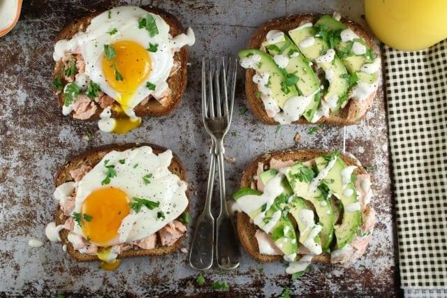 Salmon Toast Two Ways Recipes from MissintheKitchen.com #ad