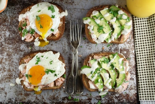 Salmon Toast Two Ways Recipes from MissintheKitchen.com #ad