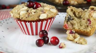 Recipe for Cranberry Almond Muffins ~ MissintheKitchen.com