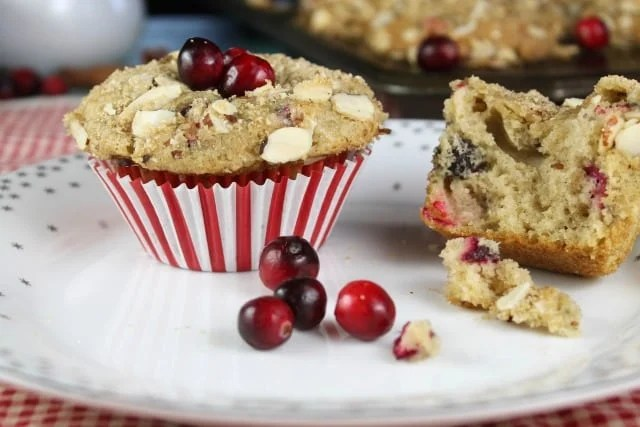 Recipe for Cranberry Almond Muffins ~ MissintheKitchen.com
