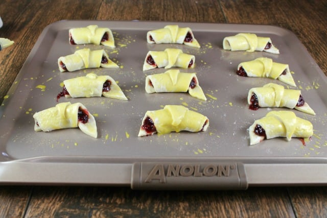 Ready for the Oven ~ Mini Raspberry Croissants