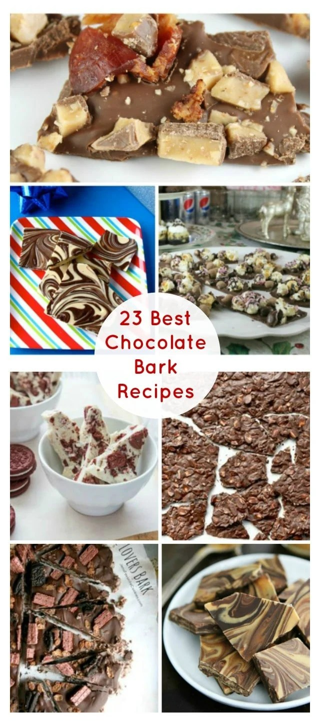 23 Best Chocolate Bark Recipe to make and share for the holidays! From MissintheKitchen.com