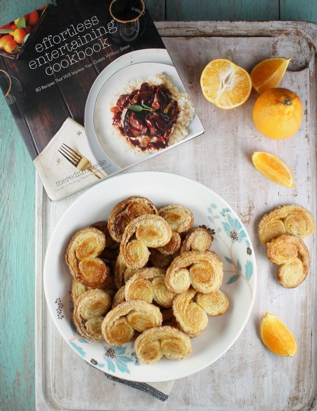 Orange Scented Palmiers from Effortless Entertaining by Meredith Steele ~ MissintheKitchen.com