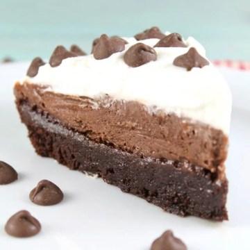 Brownie Pudding Pie Recipe ~ Delicious Chocolate Dessert From MissintheKitchen.com