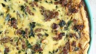 Sausage Spinach Quiche