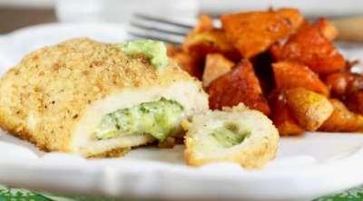 Barber Foods Stuffed Chicken Sweet Potato Sheet Pan Dinner Recipe