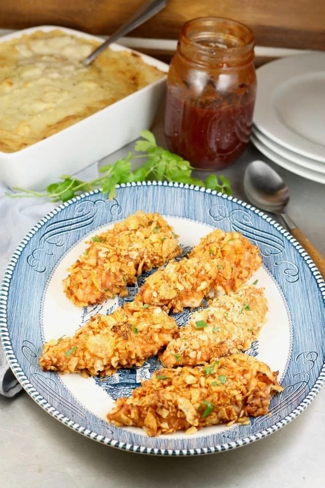 My family went crazy for this Crunchy Barbecue Chicken Recipe! MissintheKitchen.com