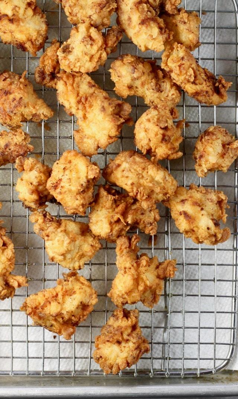 Easy Popcorn Chicken Recipe from MissintheKitchen.com
