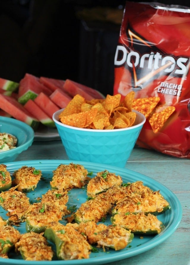 Doritos Chicken Jalapeno Poppers Recipe ~ perfect summer appetizer from MissintheKitchen #ad #SayYesToSummer