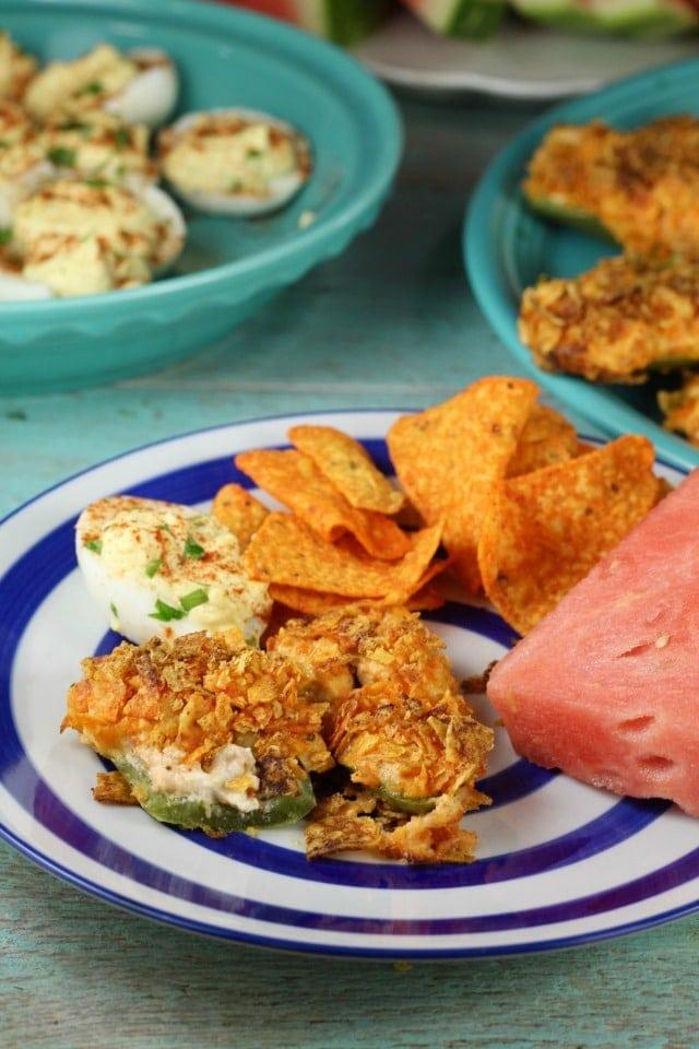 Doritos Chicken Jalapeno Poppers Recipe ~ MissintheKitchen.com #ad #SayYesToSummer