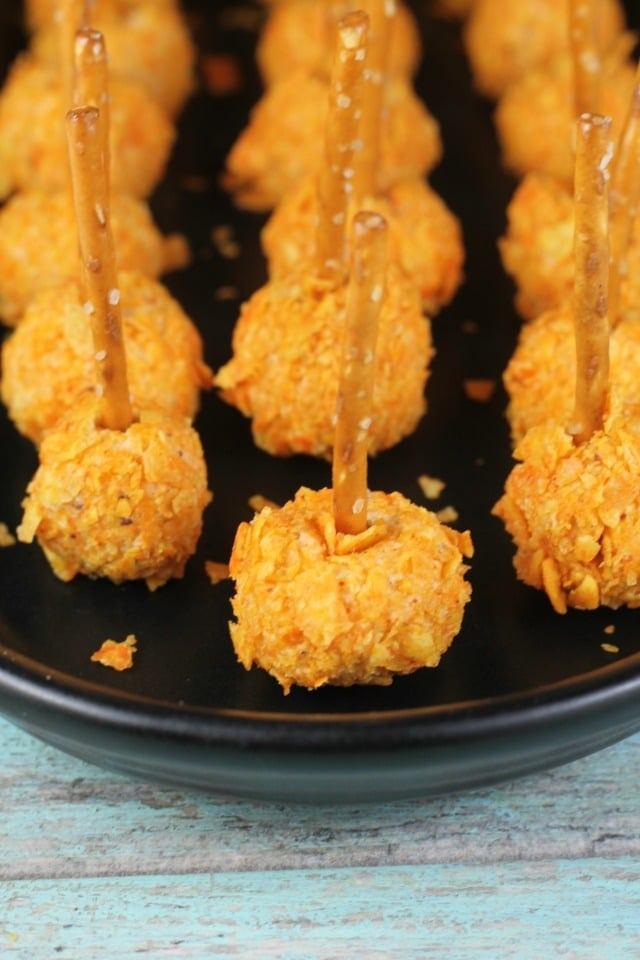 Doritos Mini Cheese Balls Appetizer Recipe from MissintheKitchen.com #ad #SayYesToSummer