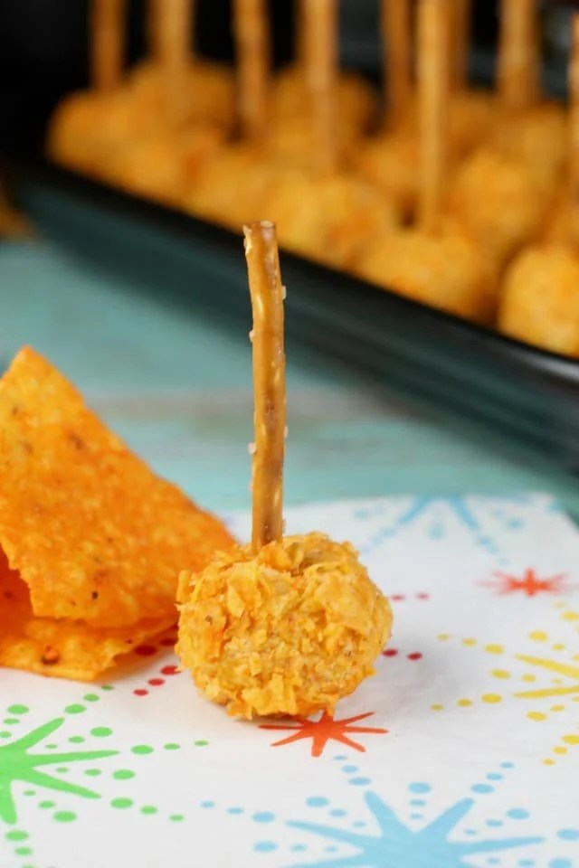 Doritos Mini Cheese Ball Appetizers are perfect for summer! Get the Recipe from Missinthekitchen.com #ad #SayYesToSummer
