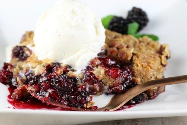Easy Blackberry Crisp Recipe - MissintheKitchen.com