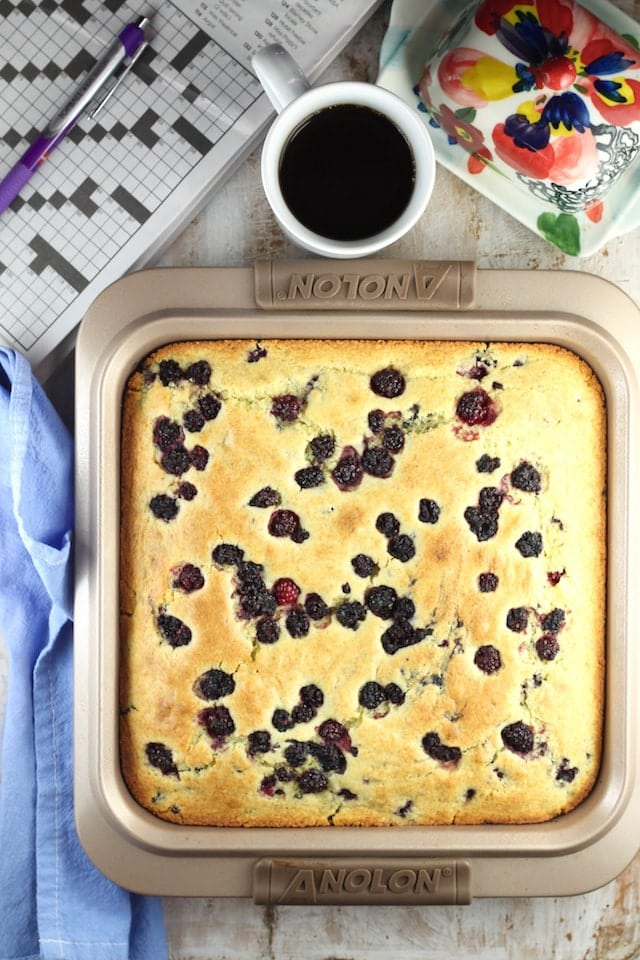 Recipe for Blackberry Cornbread ~ MissintheKitchen.com