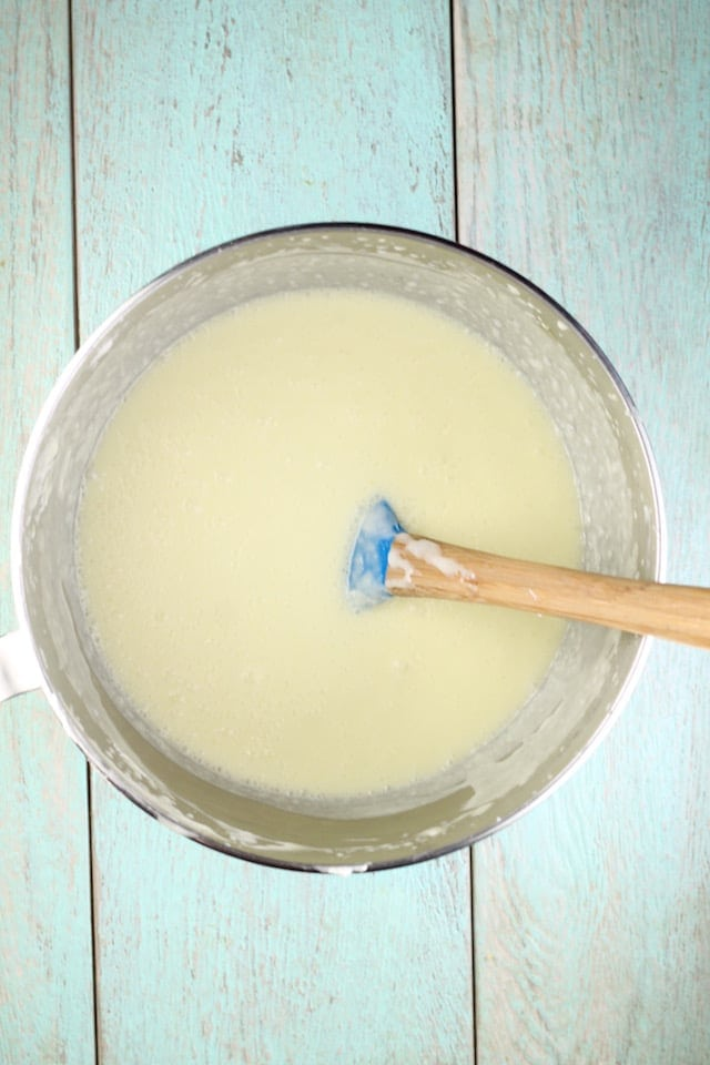 Batter for No Bake Lemon Icebox Cheesecake Recipe ~ MissintheKitchen