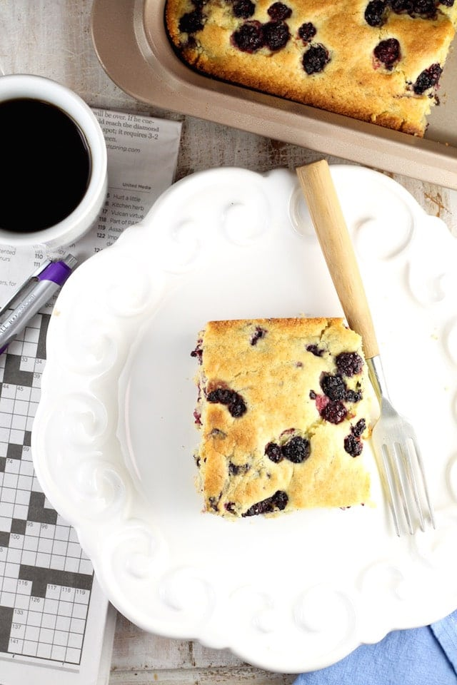 Blackberry Cornbread Recipe ~ MissintheKitchen.com