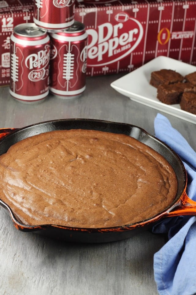 Dr Pepper Brownies ~ MissintheKitchen.com #ad