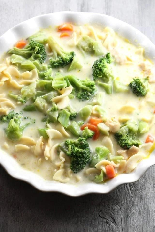 Chicken Noodle Casserole with Broccoli ~ MissintheKitchen.com