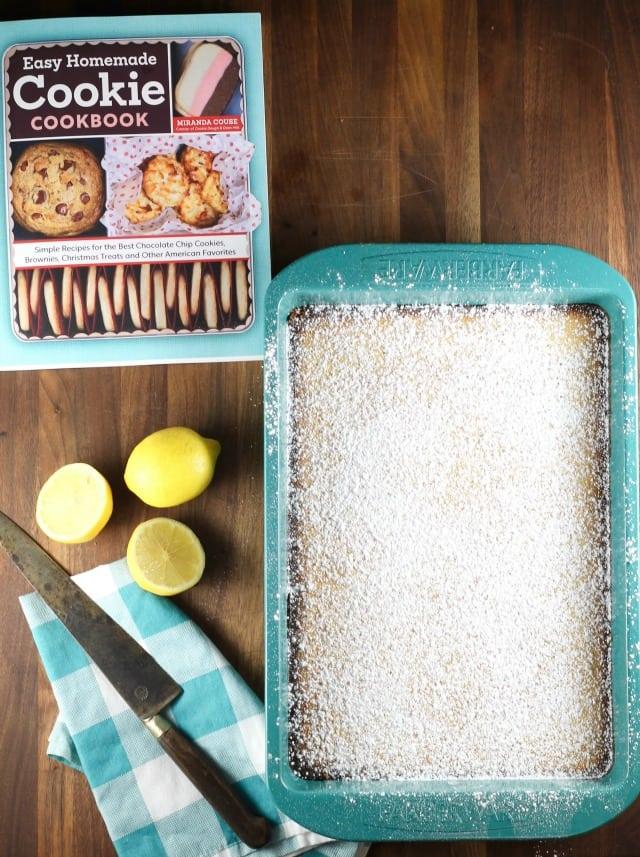 Lemony Lemon Bars from Easy Homemade Cookie Cookbook by Miranda Couse ~ Recipe @ MissintheKitchen.com