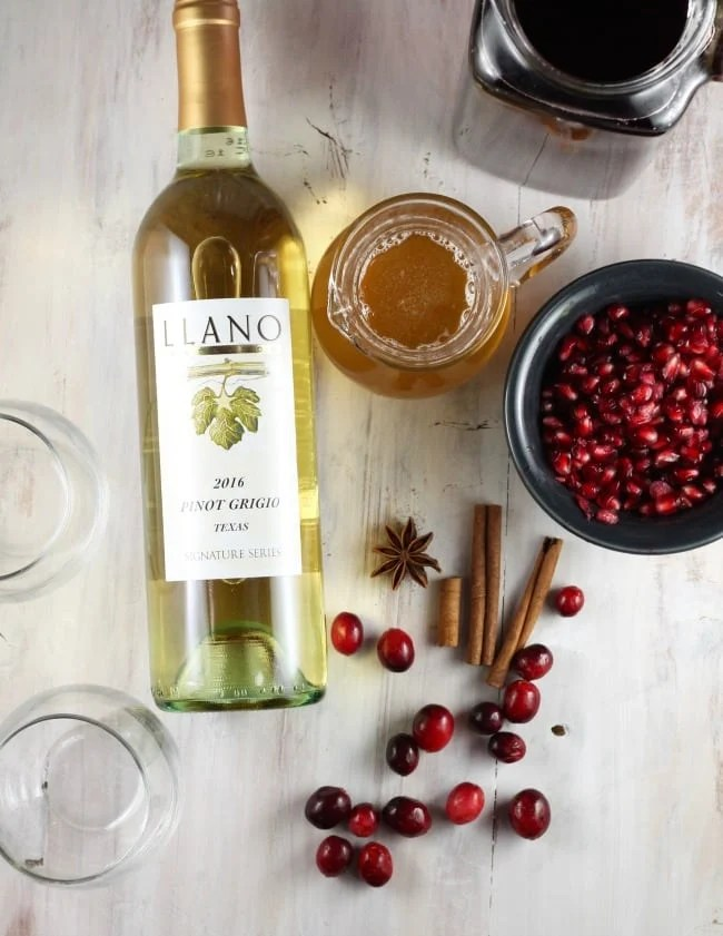 Winter Spice Simple Syrup for Cranberry Wine Punch ~ MissintheKitchen.com #ad #llanowines #punch #wine