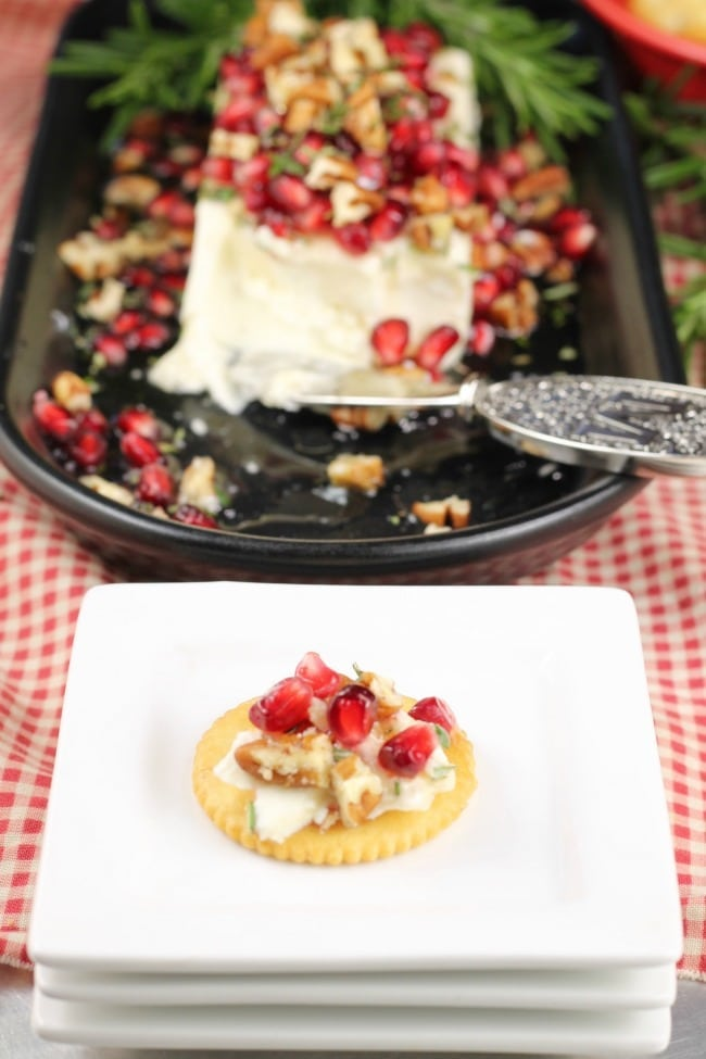 Pomegranate Pecan Party Appetizer Recipe ~ MissintheKitchen.com