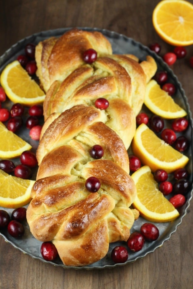 Orange Cardamom Braid Recipe from MissintheKitchen.com #recipe #ad @redstaryeast #holiday