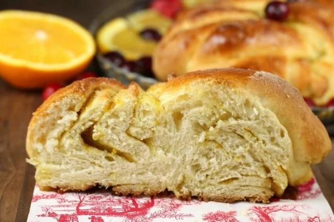 Orange Cardamom Braid Slice ~ MissintheKitchen.com #ad @redstaryeast #bread #holiday