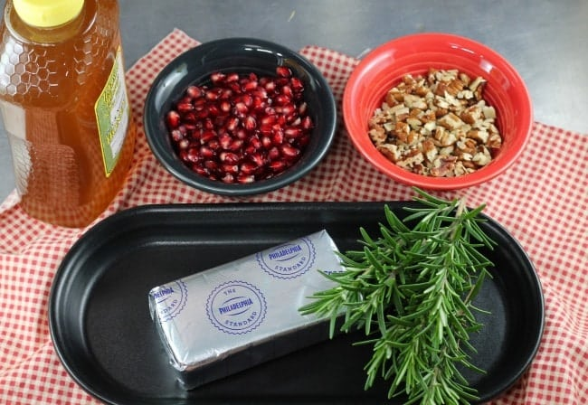 Pomegranate Pecan Party Appetizer Ingredients ~ MissintheKitchen.com